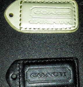 Lot Small COACH Leatherware Fob Tags